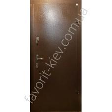 Металлические двери, модель «Экспозит» снаружи метал, внутри мдф