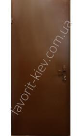 """Двухлистовые утепленные металлические двери покрашенные, модель """"Варда"""""""