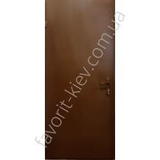 Однолистовые металлические покрашенные двери, модель «Дона»