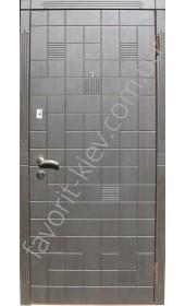 Входные двери «Перфект», черно-белые, коробка с четвертью утепленная, толщина полотна 75 мм