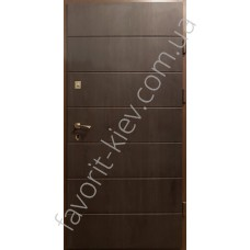 Бронедвери «Арабика на уголке», 3 мм. сталь, 95 мм. толщина полотна, коробка уголок 63х63 мм, черно-белые