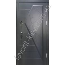 Входные двери, модель «Марсель», 2 мм. сталь, 98 мм. толщина полотна, цвет графит