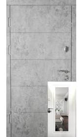 Входные двери с зеркалом, модель «Вена», 2 мм. сталь, 98 мм. толщина полотна