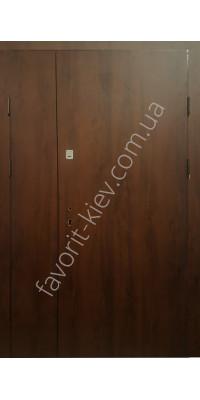 Полуторные уличные входные двери, модель «Лайм»