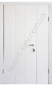 Полуторные уличные входные двери, модель «Танго»