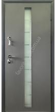 Вхідні двері, «Платіна зі склопакетом», 2 мм. сталь, 98 мм. товщина полотна, оцинкована сталь