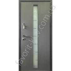 Входные двери, «Платина со стеклопакетом», 2 мм. сталь, 98 мм. толщина полотна, оцинкованная сталь