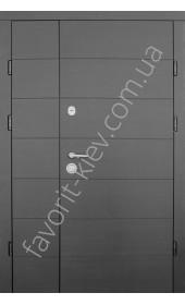 Входные полуторные двери, модель «Слим» 2 мм. сталь, утепленная коробка.