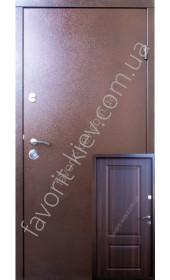 Входные уличные двери, модель «СтальВип-К», 2 мм. сталь, металл\мдф.