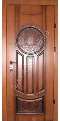 Патинированные металлические двери, модель «Эконом»