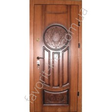 Красивая входная дверь, модель 314 золотая