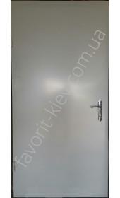 Вхідні двері «Нота», метал на дві сторони 2 мм., фарбування хамарайт білого кольору