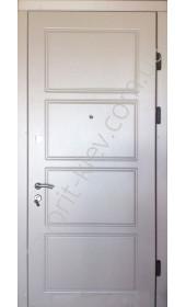 Вхідні бронедвері «Фьюжін», Преміум класу, колір білий металік