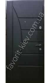 Вхідні бронедвері «Фелліція» Віп класу, колір венге темний