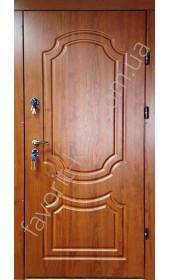 Входная дверь «Интера» 2 мм. сталь, золотой дуб, толщина полотна 80 мм