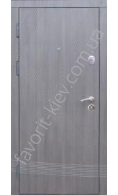 Входные двери «Аксиома», серого цвета, 2 мм. сталь, 80 мм. толщина полотна