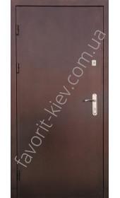 Металеві двері с порошковим покриттям, модель «Альта».