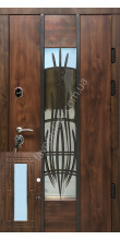 Бронедвери, «Диамонд» со стеклопакетом, 1,8 мм. металл полотна, оцинкованная сталь/мдф