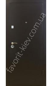 """Металлические двери на две стороны, модель """"Порошковая"""" 1,5 мм."""
