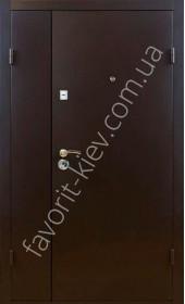 """Полуторные  двери """"Порошок"""" метал на две стороны 1,5 мм."""