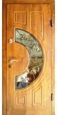 Входная дверь со стеклопакетом и ковкой, модель «Чезена»