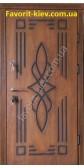 Входная бронированная дверь, модель «Алегрио», патина на две стороны