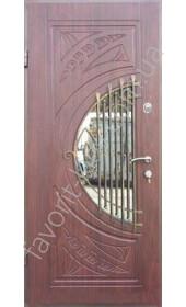 Входная дверь со стеклом и ковкой, модель «Дакота»