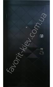 Бронедвері «Альбіон» всередині білі з дзеркалом, потрійний притвор