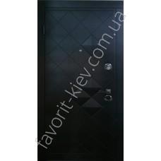 Бронедвери «Альбион» внутри белые с зеркалом, тройной притвор