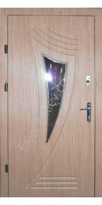 Входная дверь со стеклопакетом и ковкой, модель «Мерани»