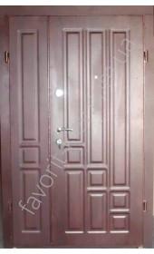 Полуторные уличные двери «Дайтон», венге темный