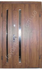 Входные двери со стеклопакетом «Дуос»