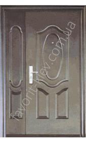 Полуторная входная дверь, модель «А13»