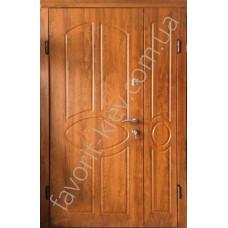 Полуторная уличная входная дверь Вип класса, модель «Славия»