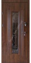 Входная дверь со стеклопакетом и ковкой, модель «Алаверди»