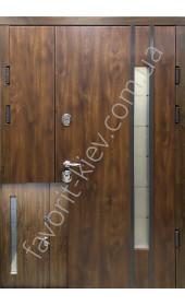 Входные уличные двери, «Адель» со стеклопакетом, 1,8 мм. металл полотна, оцинкованная сталь/мдф
