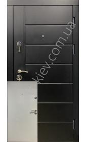 Входные бронедвери, серия Премиум+ «Олимпия» черно-белые, 2 мм. сталь, 98 мм. толщина полотна