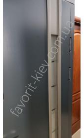 Входные уличные двери, «Адель Антрацит» со стеклопакетом, 1,8 мм. металл полотна, оцинкованная сталь/мдф