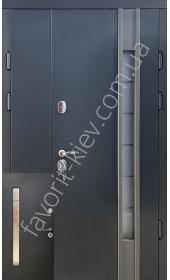 Входные уличные двери, «Легион» со стеклопакетом, 1,8 мм. металл полотна, оцинкованная сталь/мдф