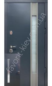 Входные уличные двери, «Ностра» со стеклопакетом, 1,8 мм. металл полотна, оцинкованная сталь/мдф