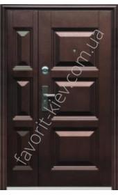 Полуторні вхідні двері, модель «Квадра »