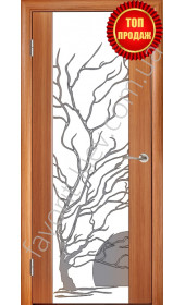 Глазго, тик, декор Дерево с солнцем