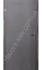 Вхідні двері «Вега», метал 1,5 мм., всередині ДВП