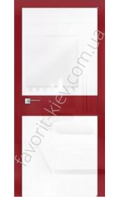 "Двери A2 S со стеклом красное ""Avangard"""