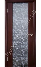 """Двері Глазго ПО венге, декор Серые листья """"Woodok"""""""