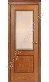 "Двери Гранд ПО 40 со стеклом Версаль (орех) ""Двери Беларусии"""