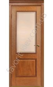 "Двери Гранд ПО со стеклом Версаль (орех) ""Двери Беларусии"""