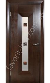 "Двері Мондриан 1 ПО Ипе фьюзинг ""Woodok"""
