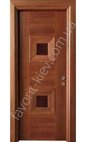 "Двері Мондриан 2 ПО американский орех ""Woodok"""