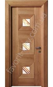 "Двері Мондриан 3 ПО американский орех, анегри ""Woodok"""